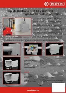 Caja de Cableado grados de protección, IP66