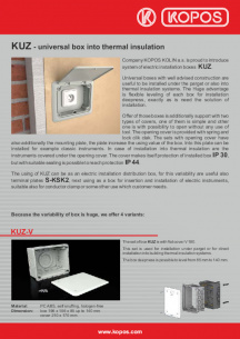 KUZ - universal box into thermal insulation