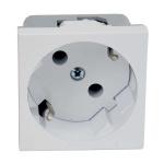 QS 45X45 HB - zásuvkový modul QUADRO s ochrannými kontakty (schuko)